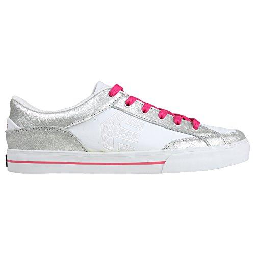 Etnies Women's Izzy Skateboarding,Grey/Pink/White,11 M US