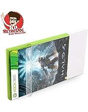 100 Klarsicht Schutzhüllen für X-BOX 360 Games in Originalverpackung - Passgenau und Glasklar - PET - Retro-Doc Game Protectors - X-BOX Classic - Extra Laschen - Bessere Optik