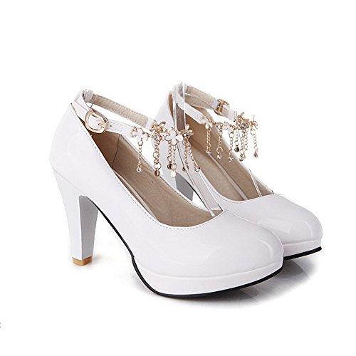 1TO9 Zapatos de Vestir Para Mujer, Color Blanco, Talla 43 EU