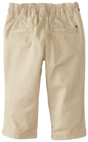 Tommy Hilfiger Baby Boys' Charlie Flat Front Pant, Khaki, 9 Months