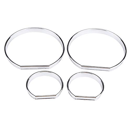 4pcs Car Front Dashboard Speedometer Gauge Decoration Frame Dial Rings Trim for BMW E46:
