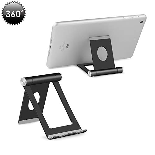 Cell Phone Stand, YOSHINE Portable Phone Stand: Full 360 Adjustable Cell Phone Holder Cradle Dock for Phone Xs XR X 8 7 6 6S Plus, Universal Aluminium Stand for Cellphones & Tablets (4-10.1