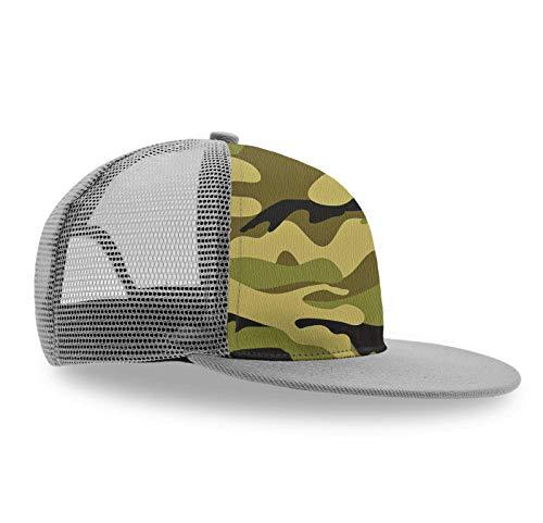 - Stylish Trucker Hat, Army Camouflage 3D Camo-2 Unisex Adjustable Baseball Cap Snapback Hats Kids Sun Hat Summer Cap-1 Pack