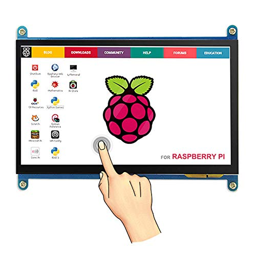 The perseids 7 inch HDMI Touch Screen 1024x600 TFT LCD Display High Resolution Monitor for Raspberry Pi 3/2/Model B/B+ (Raspberry Pi 3 7 Inch Touch Screen)