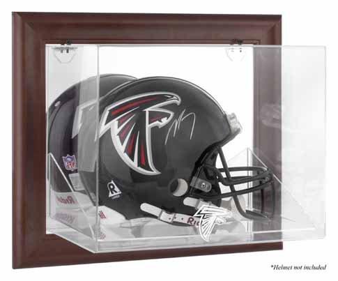 Mounted Memories Atlanta Falcons Brown Helmet Display Case
