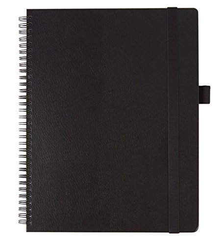 Office Depot(R) Brand Hard Cover Premium Business Notebook, 8 1/2in. x 11in, 1 Subject, Narrow Ruled, 120 Pages (60 Sheets), Black