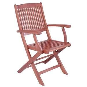 Estocolmo enrollable al aire libre jardín silla de comedor (acabado: aceite, material: eucalipto, juego de 2)