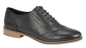 94ec505a6a6 Ladies Leather Brogue Shoe, Tan Or Black. Sizes 3-9.