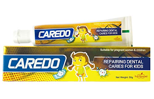 CAREDO Kid's ONLY Tooth Decay Toothpaste, Repairing Dental Caries Toothpastes for Children, Fruit Flavor, 1.75 OZ Tubes