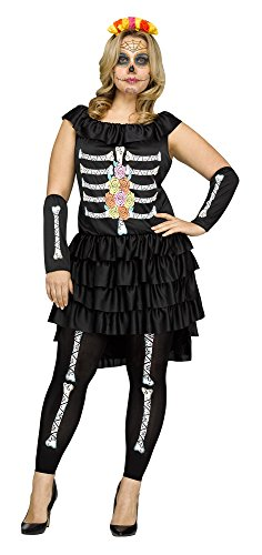 Dia De Los Muertos Plus Size Costumes (Fun World Women's Plus Size Dia De Los Muertos Costume, Multi,)