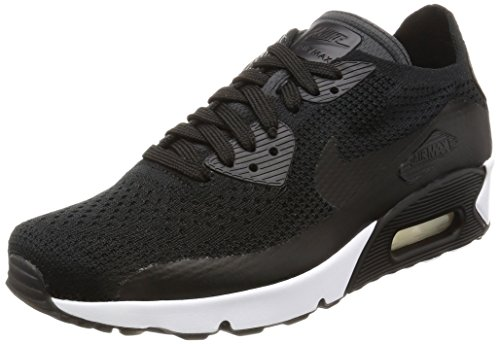 Nike Mens Air Max Ultra 2.0 Flyknit Running Shoe, Black/Black-Black-White, 10 (Nike Air Max 90 Hyperfuse Black And White)