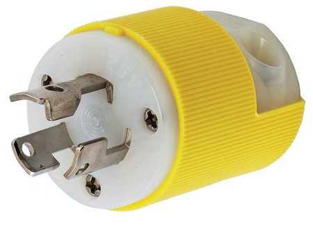 3w 15p Plug 2p (15A Locking Plug 2P 3W 125VAC L5-15P YL)