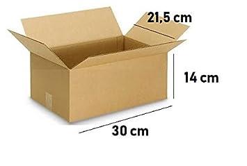10 Cajas de cartón 30x21,5x14 cm para tus envíos: Amazon.es: Oficina y papelería