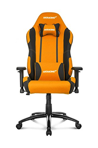 AKRacing Prime Series Premium Gaming Chair with High Backrest, Recliner, Swivel, Tilt, Rocker and Seat Height Adjustment Mechanisms with 5/10 warranty Orange