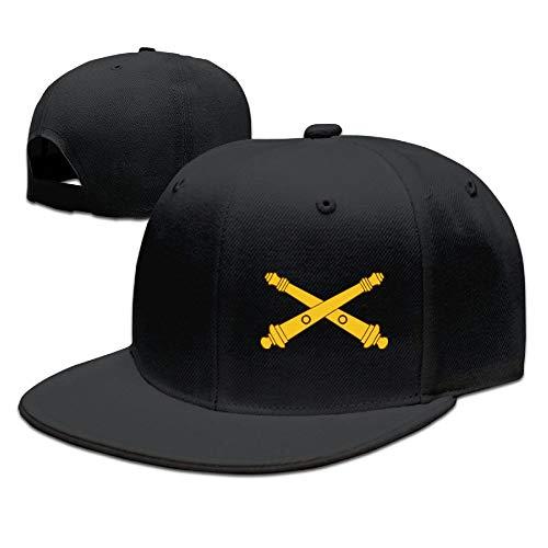 US Army Field Artillery Flat Bill Cap Adjustable Baseball Cap Snapback Hat Hip Hop Cap