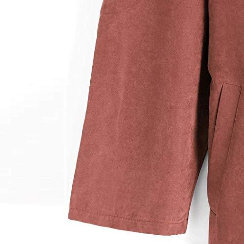 Giacca Baggy Lunghi Manica Monocromo Casuale Cappotto Donna Lunga Arancia Trench Targogo Bavero Autunno Outerwear Primaverile Eleganti q0UOttxwv