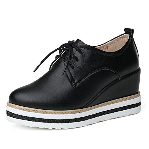 Occasionnelles Uk L'european Épaisses Chaussures Femme Printemps Des Au chaussures Semelles A pente De Avec Wind Cuir chaussures Yqn88xXw1S