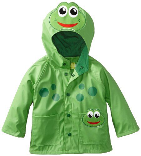 (Western Chief Kids Soft Lined Character Rain Jackets, Fritz the Frog,)