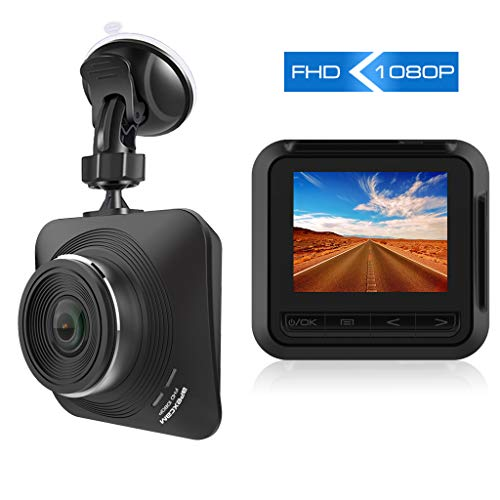 Apexcam Dash Cam 1080P Full HD Driving Recorder Mini Car Camera DVR Dashboard Camera with 2.2″ IPS Screen 170° Wide Angle G-Sensor, Motion Detection, Loop Recording, Parking Monitor,Night Vision