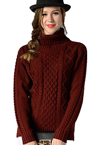 Babyonlinedress Femme Veste Pull/Pull-over Sweater Tricot Chandail Tops Automne/Hiver Elastique Col roul