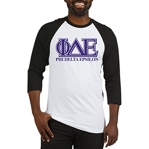 CafePress Phi Delta Epsilon Baseball Jersey - Cotton Baseball Jersey, 3/4 Raglan Sleeve Shirt
