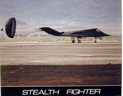 Military F-117 Nighthawk Stealth Fighter Jet Aviation Aircraft Wall Decor Art Print Poster (Cost F-16 Fighter Jet)