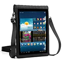 "9"" Tablet Sleeve Carrying Case with Touch Screen Protector , Adjustable Shoulder / Display Strap & Black Neoprene Protective Material by USA Gear - Works for Apple , Samsung , LG & More 9 inch Tablets"
