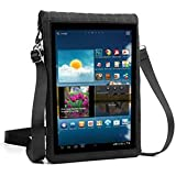 """Tablet Carrying Case Cover w/ Built-In Touch Screen Protector & Adjustable Shoulder Strap by USA Gear - Fits Samsung Galaxy Tab A / Tab S2, Asus ZenPad Z8 / 8.0, Lenovo Tab 4 8 Plus, & more 8"""" tablets"""