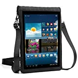 """9"""" Tablet Sleeve Carrying Case w/ Touch Screen Protector & Adjustable Shoulder Display Strap - Protective Neoprene Cover by USA Gear - Fits Apple iPad 9.7, Samsung Tab S3 & More 9 inch Android Tablets"""