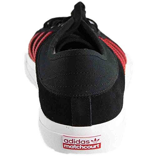 Adidas Original Mens Matchcourt Mode Sneakers Core Svart / Scarlet / Skor Vit
