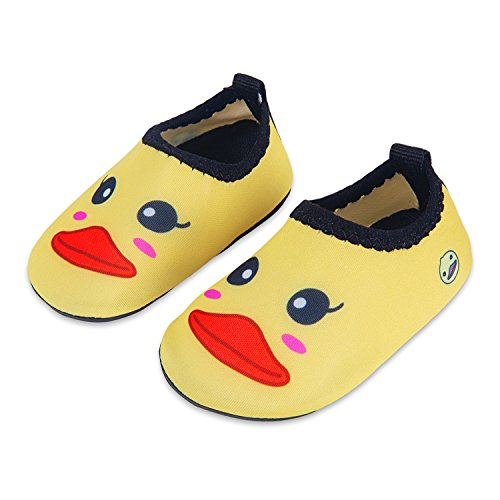 - Lauwodun Baby Girls Boys Water Shoes Barefoot Aqua Sock Infant Toddler Walking Shoes for Beach Pool Indoor Outdoor