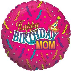 Feliz cumpleaños mamá globo helio de se entrega en una caja ...