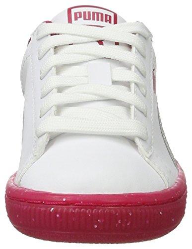 37837b80ba204 Blanc Basses silver Iced Ps Enfant 2 Mixte white Puma Sneakers Basket  Glitter PTq1x1zYw .