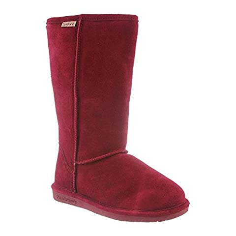 Bearpaw Womens Emma Tall: 12 In. Boot (Bordeaux, 5) - Faux Ugg Boots