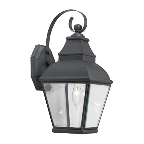 Outdoor Wall Lantern Bristol Collection In Solid Brass In A Charcoal Finish