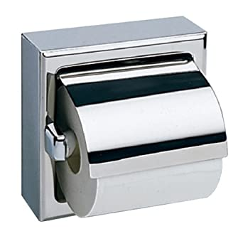 Bobrick Stainless Steel Surface Mounted Single Roll Toilet - Bobrick bathroom accessories