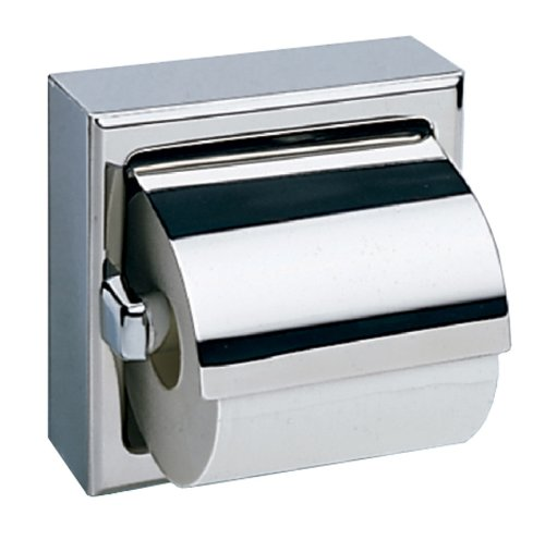 - Bobrick 6699 Stainless Steel Surface-Mounted Single-Roll Toilet Tissue Dispenser with Hood, Bright Polished, 6-3/16
