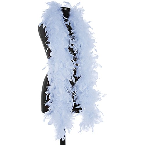 DreamAngels 40 Gram Chandelle Feather Boas (Light Blue) -