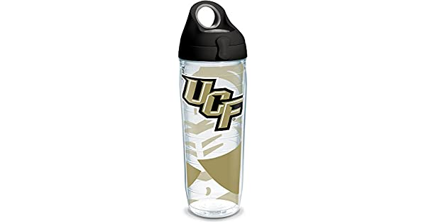 Tervis 1309969 UCF Knights Tradition Stainless Steel Insulated Tumbler with Black with Gray Lid 24oz Water Bottle Silver