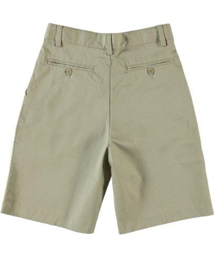 Universal School Uniform Khaki Shorts (Boys Flat Front Shorts w/ Adjustable Waist - Hook and Eye Closure (2T-20) - Khaki, 3T)