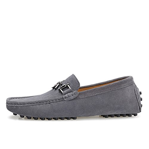 Tentoes Mens Matal Tassle Slip-On Loafer Grey sSdCNBnaWm