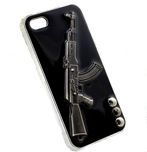 LU2000 3D Cool Gun Shaped Case for iphone 6 Plus or iphone 6s Plus Case 5.5 Inch Army Soldiers Men Boys Use