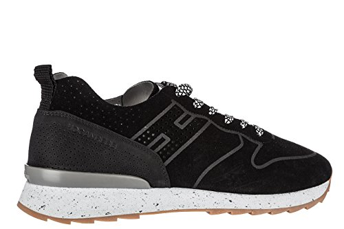 Hogan Rebel Zapatos Zapatillas de Deporte Hombres EN Ante Nuevo Running r261 Neg