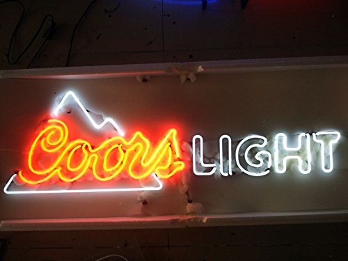 Mirsne neon signs, glass tube neon lights, 40'' by 10'' inch Coors Light neon signs bar, the best neon sign custom supplied for a wide range of personal uses.