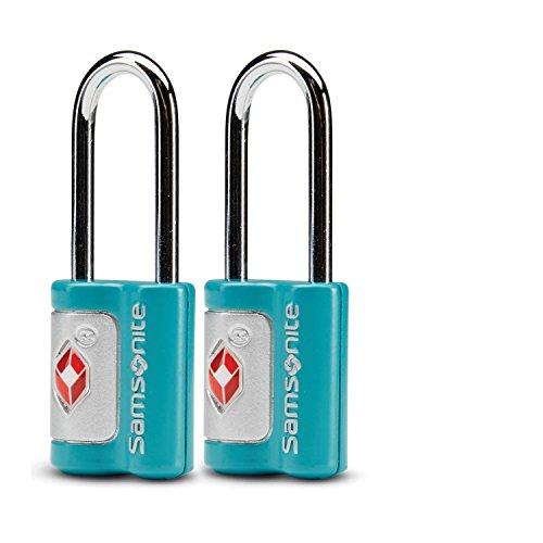 Samsonite Lock Luggage (Samsonite Travel Sentry 2-Pack Key Locks, Emerald Teal)