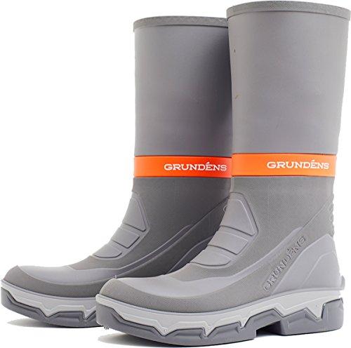 (Grundens 60003 Men's Deck-Boss 15-inch Boot, Grey - 8 D(M))