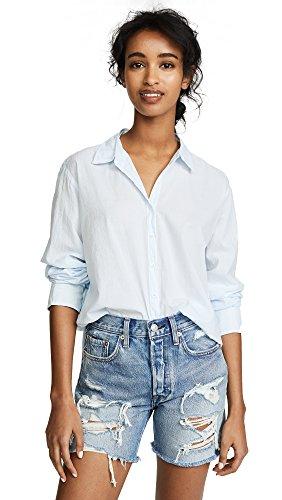 Xirena Women's Beau Button Down Shirt, Iris Blue, Large