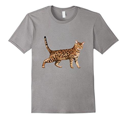Mens Bengal Cat Breeds T Shirt Tshirt tee Large Slate
