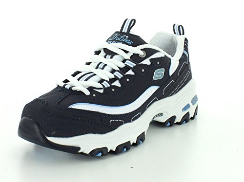 Sneaker Skechers Women's up Memory Foam Lace Blue D'Lites R4UwRv