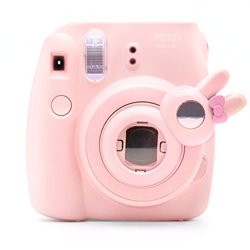 Cute Bunny Selfie And Close Up Lens Shot Mirror For Fujifilm Instax Mini 8 Mini 9 Polaroid PIC-300 Hellokitty Instant Camera (Pink - Lens Hello Kitty